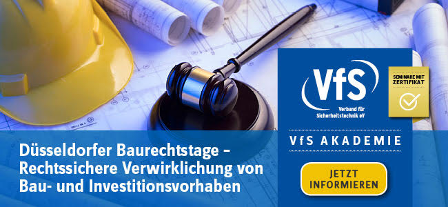 VfS Akademie Rechtssichere Verwirklichung von Bau- und Investitionsvorhaben