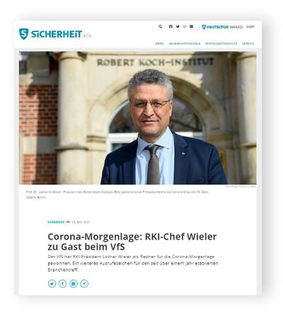 Corona-Morgenlage: RKI-Chef Wieler zu Gast beim VfS